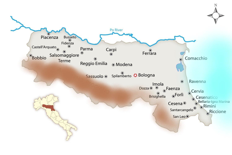 Emilia Romagna Cartina Province.L Emilia Romagna