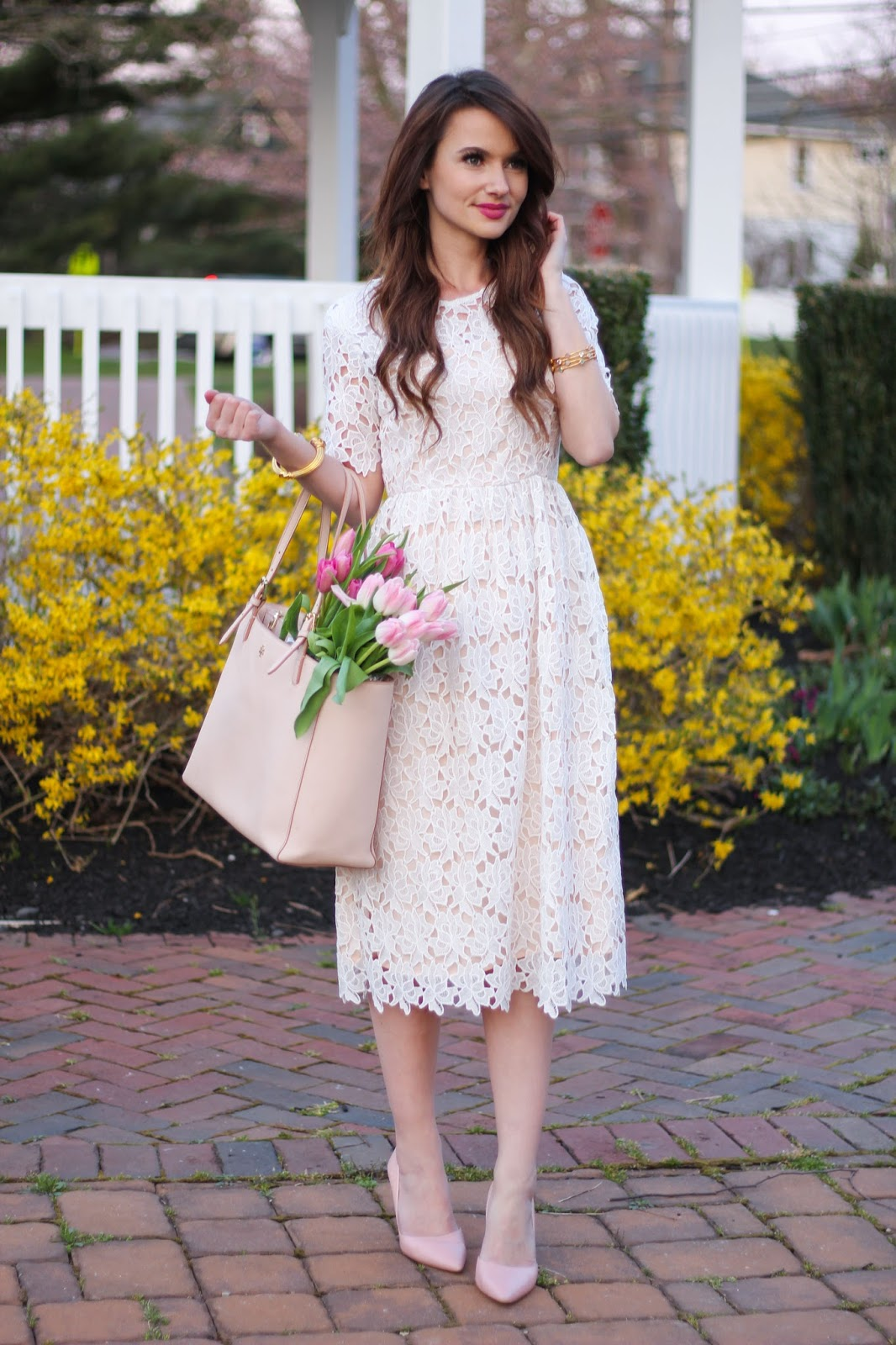 A White Lace Dress For Easter Kiss Me Darling