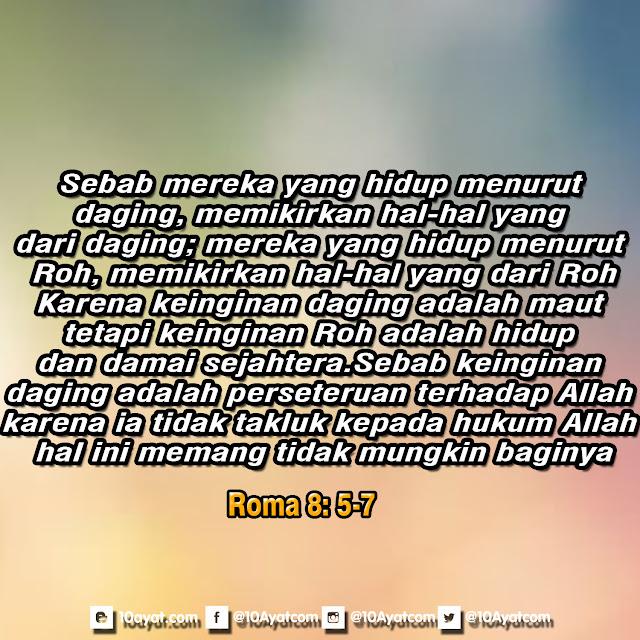 Roma 8: 5-7