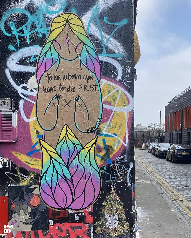 5 Brick Lane Street Art Hotspots for Paste-ups, Grimsby Street - Mowcka