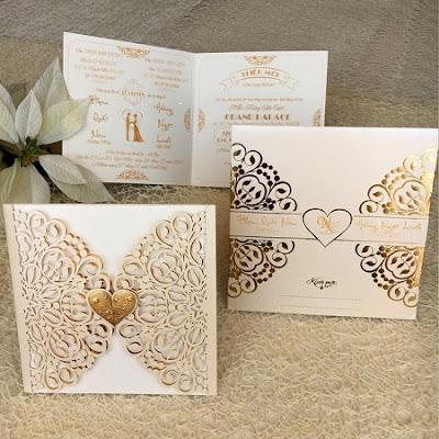 Mẫu thiệp cưới sang trọng 2018