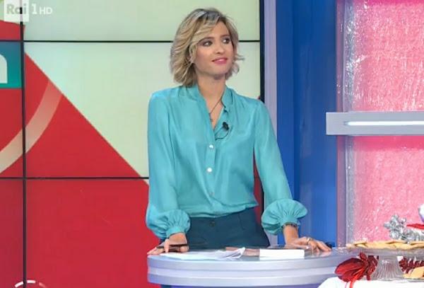Monica Giandotti con camicia verde unomattina