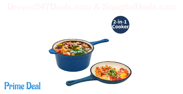 $18 OFF Enameled Cast Iron 2-In-1 Multi-Cooker