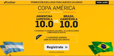 betfair Argentina o Brasil supercuota 10 Copa America 4 junio 2016