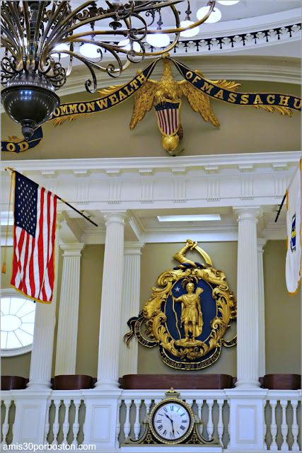 Cámara del Senado en el Massachusetts State House, Boston