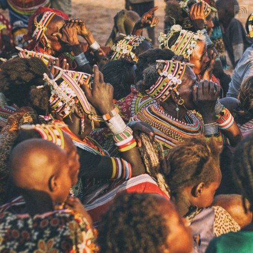 Maasai tribe meeting