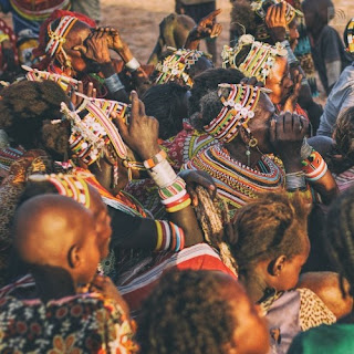 Maasai tribe meeting