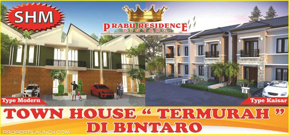 Prabu Residence Bintaro Townhouse Murah