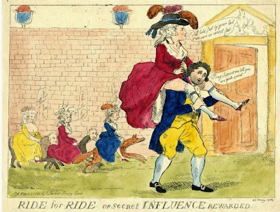 Ride for ride or secret influence rewarded published by Edward Shirlock (1784) © British Museum