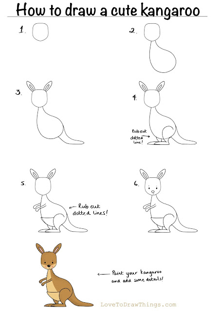 Easy drawing tutorials for beginners. Six step drawing tutorials for beginners