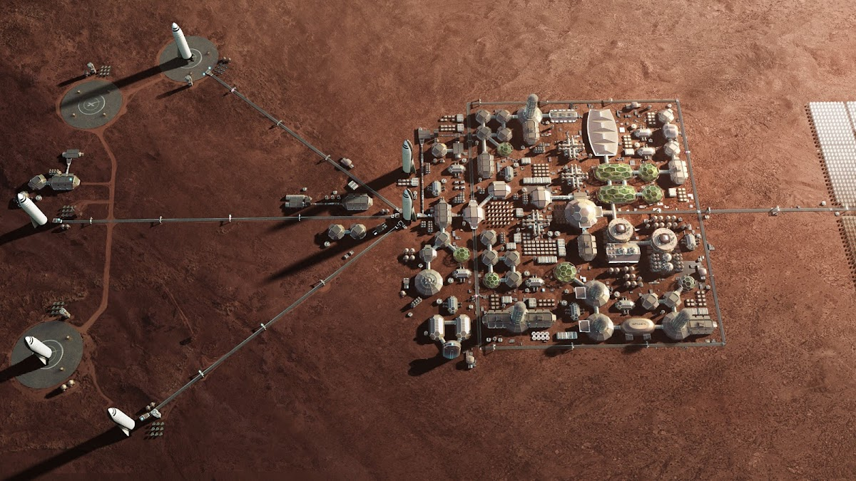 SpaceX's Mars Base Alpha - 3rd stage - a small colony