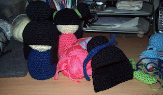 crocheting a kokeshi doll
