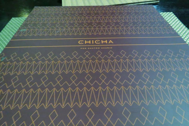 Peru Food: Menu of Chicha restaurant in Cusco