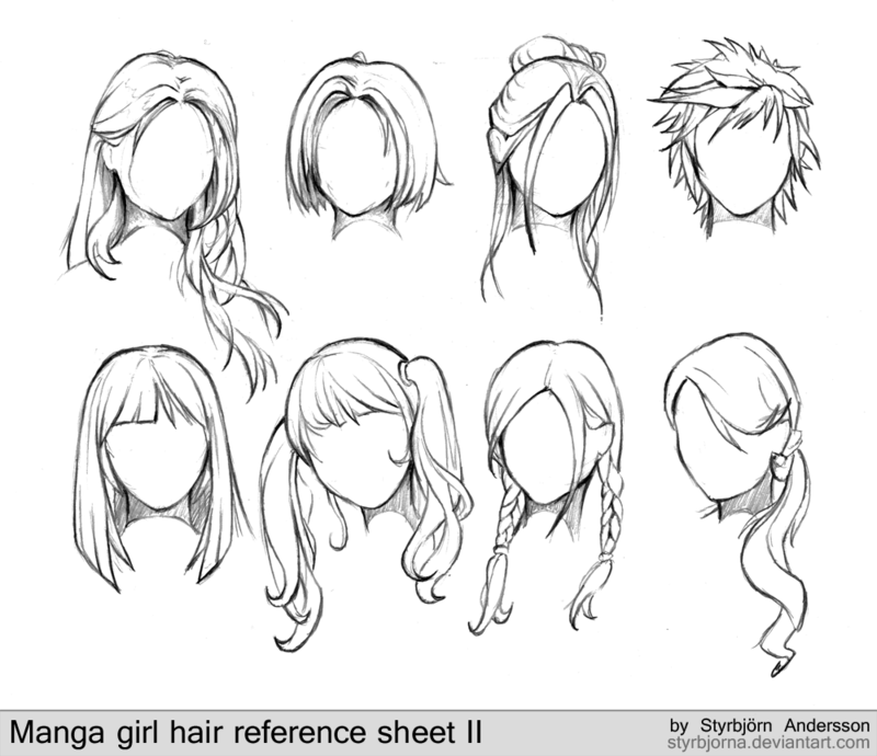 Un look impactante con peinados dibujos Fotos de ideas de color de pelo - Sweet♥Love ~ ByKyaru: Tutoriales de dibujo > Cabello ...
