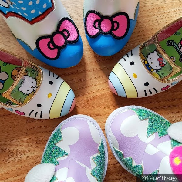 circle of toes of Sanrio Irregular Choice shoes and boots
