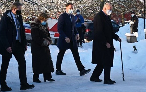 King Harald, Queen Sonja, Crown Prince Haakon and Crown Princess Mette-Marit