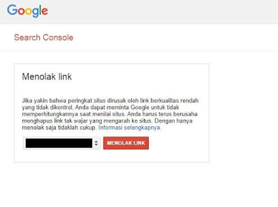 Cara Disavow Link Google Search Console