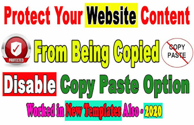 disable copy paste option in new templates 2020