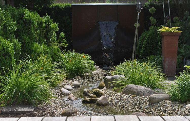 Bachlauf im privaten Garten