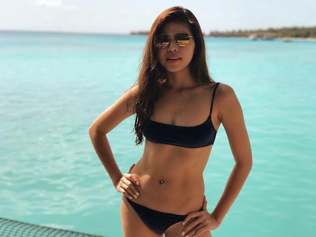 Maine Mendoza Sexy Bikini in the Maldives