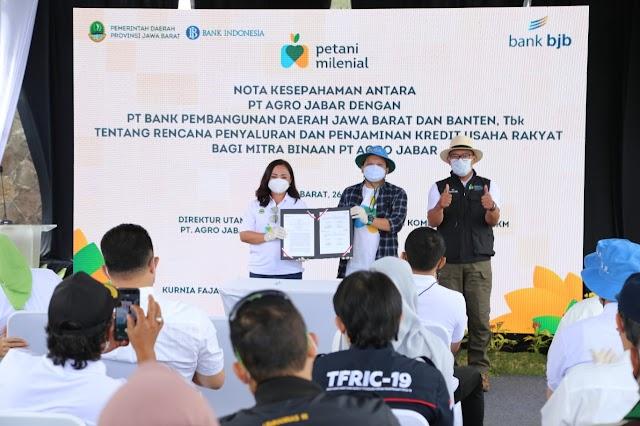 Bank bjb Bersama Pemprov Jabar Gelar Kick Off Program Petani Milenial di Lembang