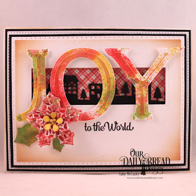 Stamp/Die Duos: Great Joy  Paper Collection: Holly Jolly   Custom Dies: Pierced Rectangles, Double Stitched Rectangles, Tri-Shutter Layers Large Alphabet Bundle, Peaceful Poinsettia, Merry Mosaics, Neighborhood Border