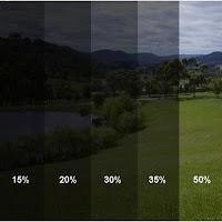 Percentagens de Coloração de Janelas