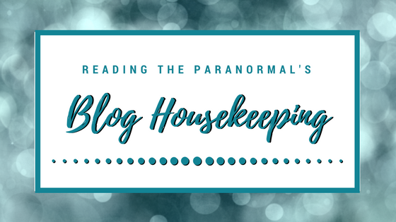 Blog Housekeeping