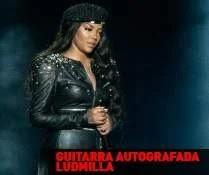 Promoção Rádio Disney e Ludmilla - Guitarra  Autografada