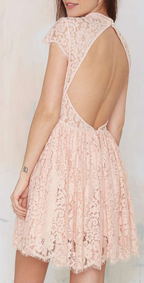 Beautiful Back Opened Lace Dress