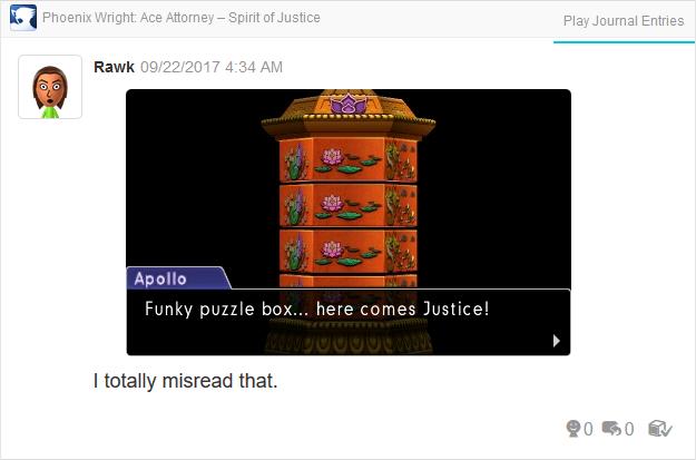 Phoenix Wright Ace Attorney Spirit of Justice Apollo funky puzzle box