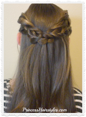 Cute braids and twists half up hairstyle tutorial.