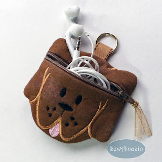 Coco Puppy Dog Coin Purse, Earbud Pouch