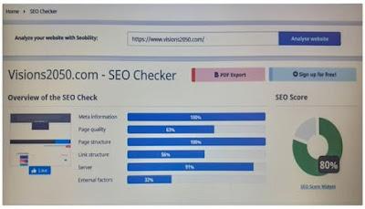 SEO Checker (تحليل وفحص سيو لمدونتك)