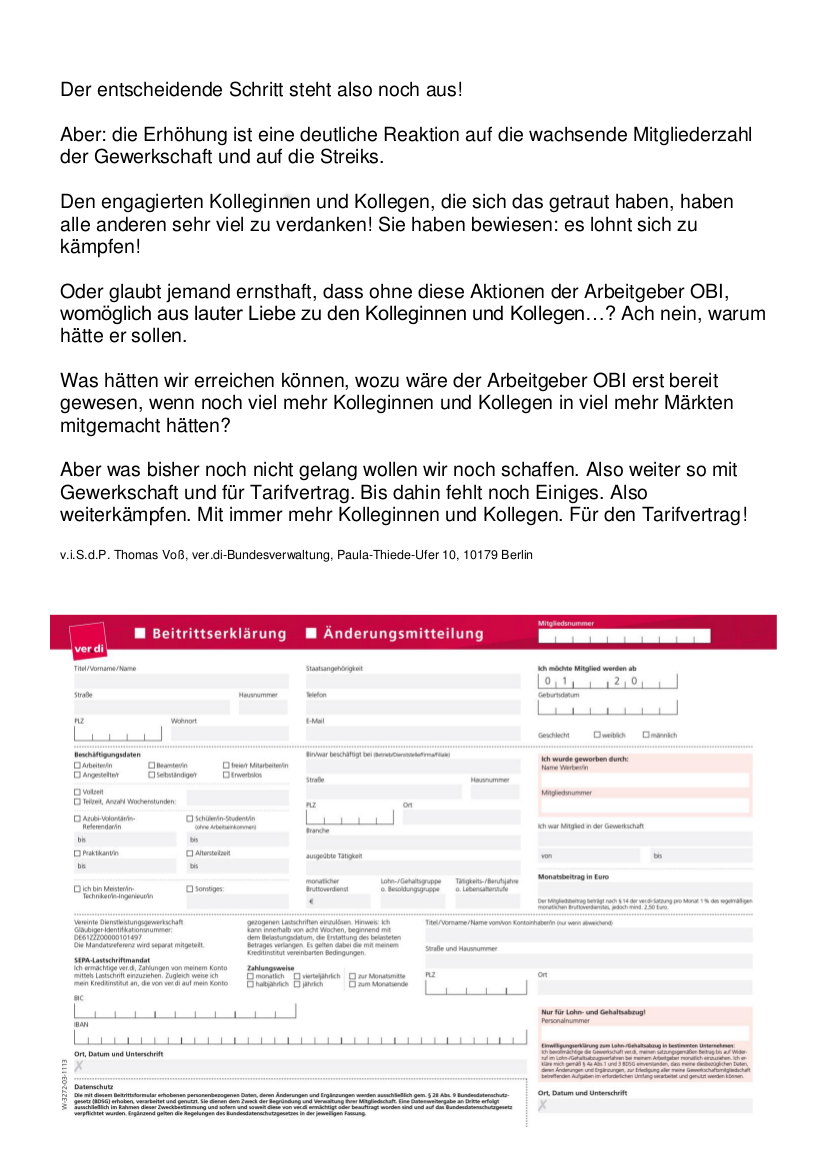 OBI - ver.di Infoblog: Lohnerhöhungen dank Streiks ...
