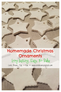 Homemade Christmas Ornaments - long lasting, simple, no bake, alternative to salt dough