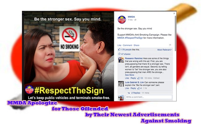 MMDA Apologize for Those Offended by Their Newest Advertisements Against Smoking