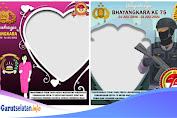 Download 10 Twibbon HUT Bhayangkara Ke-75 Paling Keren 2021