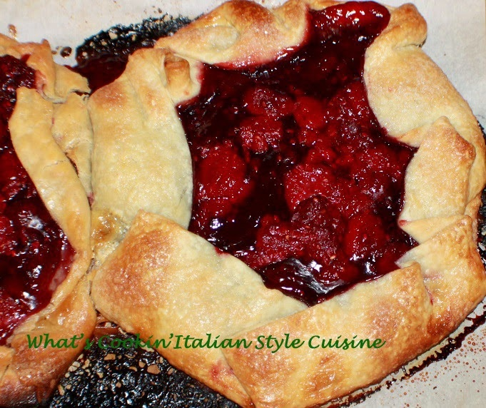 this is a photo of a raspberry filled pastry dough