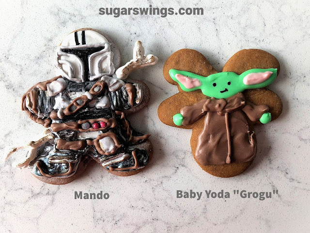 mandalorian and baby yoda gingerbread