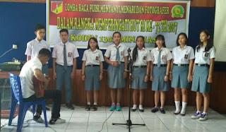 Kodim 1302/Min, Gelar Lomba Antar Siswa Antar Sekolah di Makodim Minahasa