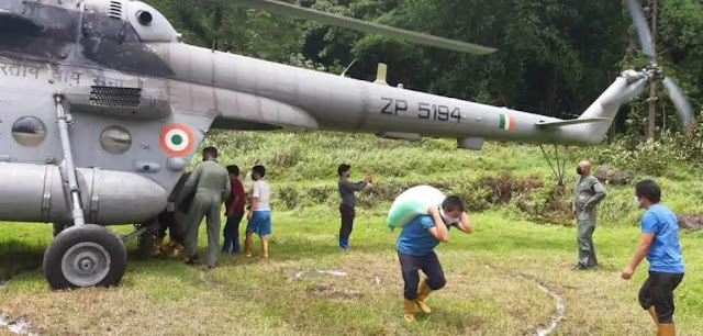 IAF delivers essential supplies to North Sikkim areas completely cut off due to landslides, heavy rains