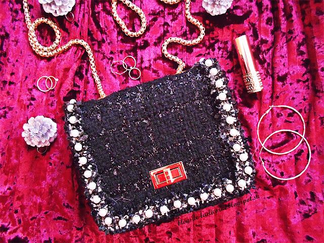 Rosegal New Coarse Woolen Chain Handbags