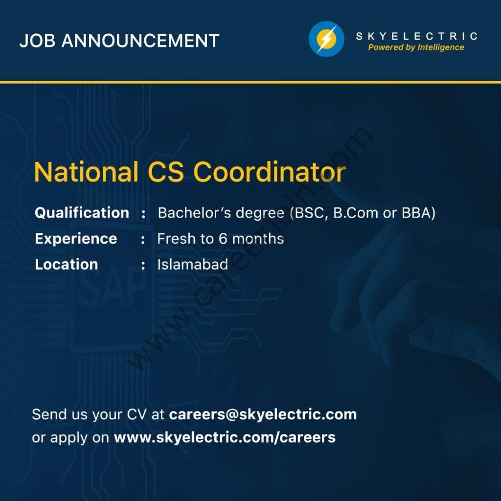 SkyElectric Pvt Ltd Jobs National Customer Support Coordinator