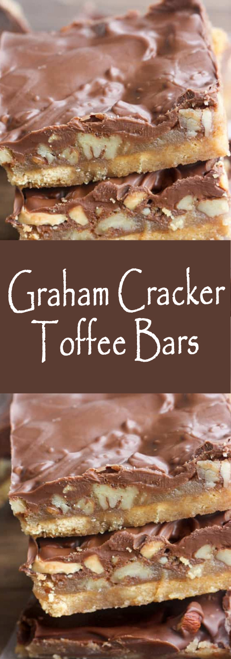 Recipe Graham Cracker Toffee Bars #bars #cookies
