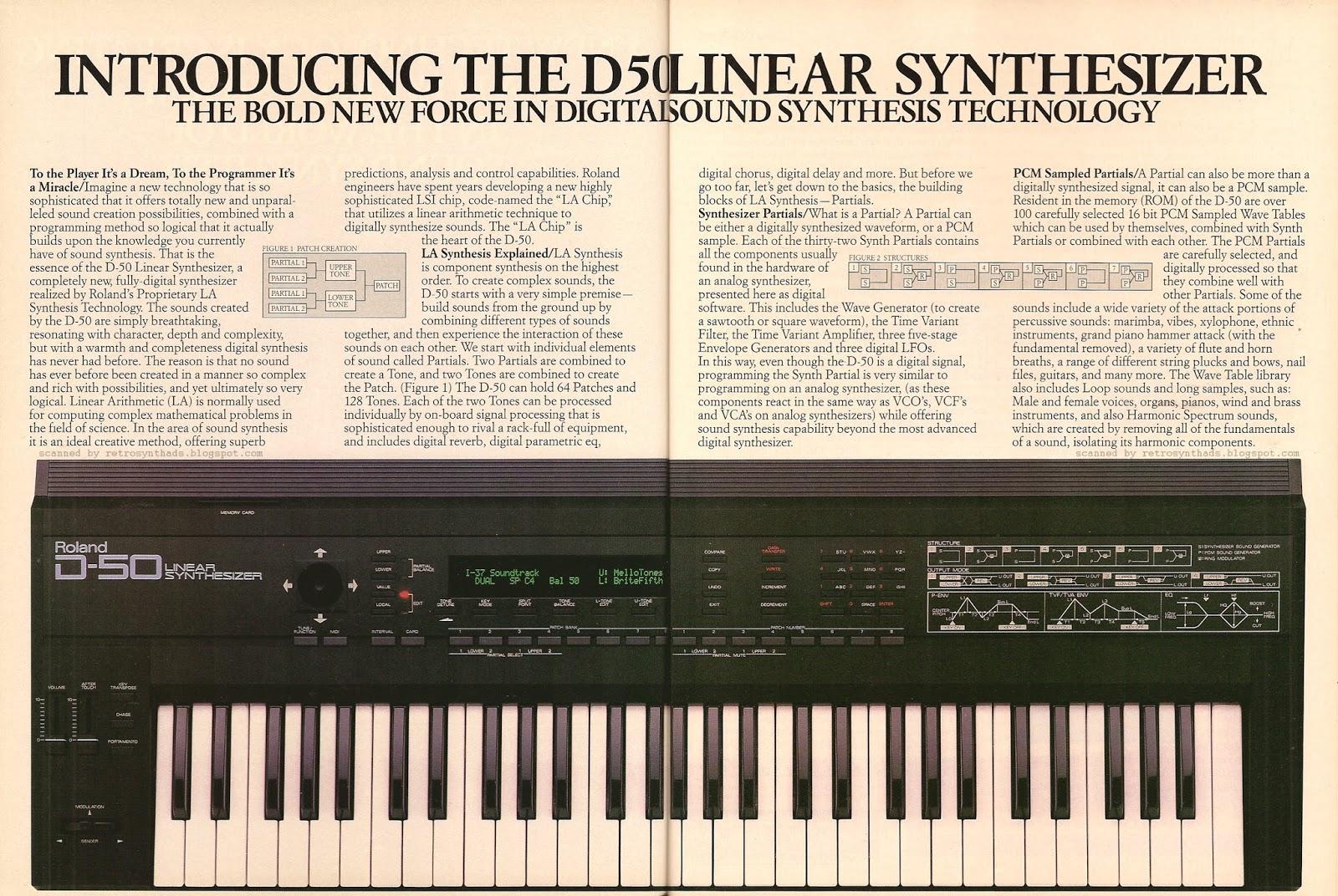Retro Synth Ads: Roland D-50