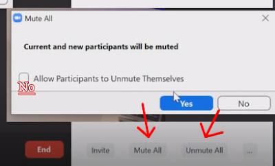 Come togliere e rimettere l'audio a tutti i partecipanti Zoom