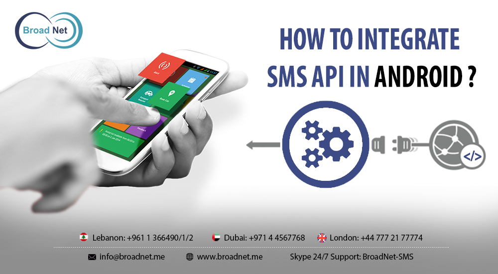 How to integrate sms api in android