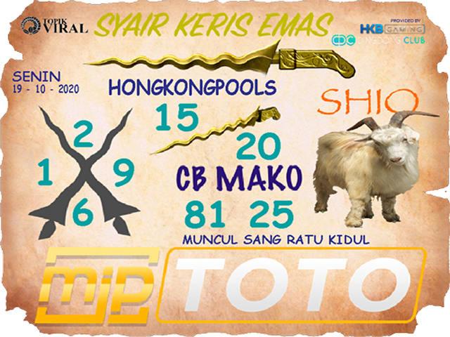 Kode syair Hongkong senin 19 oktober 2020 223