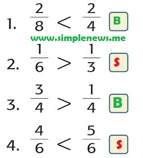 A. Beri tanda S (salah) jika jawaban salah atau B (benar) jika jawaban benar pada kotak yang tersedia www.simplenews.me